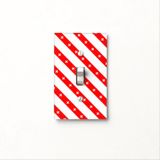 Swiss stripes flag light switch cover