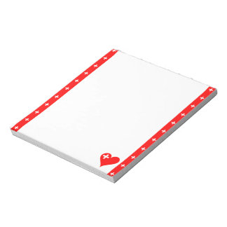 Swiss stripes flag notepad
