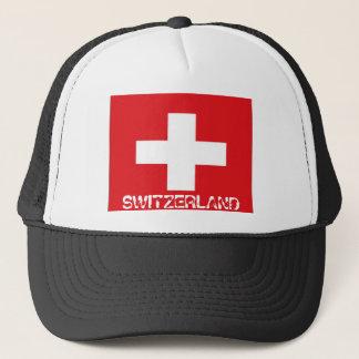 Swiss switzerland flag trucker hat