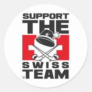 SWISS TEAM CLASSIC ROUND STICKER