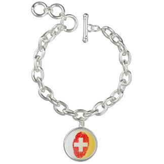 Swiss touch fingerprint flag bracelet