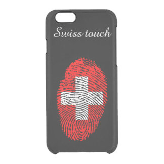 Swiss touch fingerprint flag clear iPhone 6/6S case