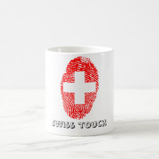 Swiss touch fingerprint flag coffee mug
