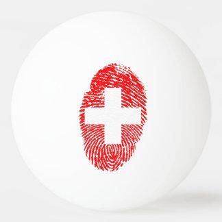 Swiss touch fingerprint flag ping pong ball