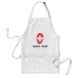 Swiss touch fingerprint flag standard apron