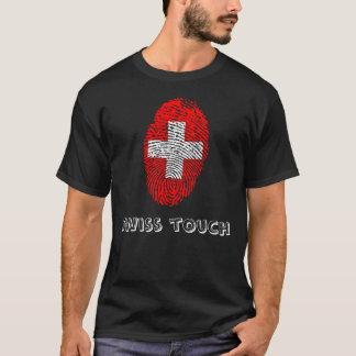 Swiss touch fingerprint flag T-Shirt