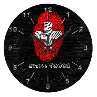 Swiss touch fingerprint flag wall clock