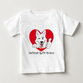 Swiss white shepherd with heart baby T-Shirt