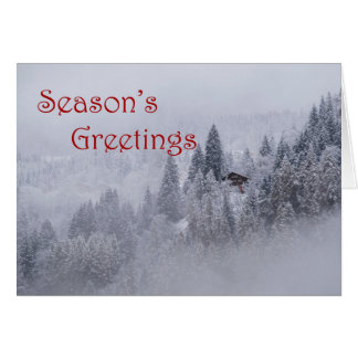 Swiss Winter Season's Greetings Blank Card