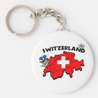 Switz Map Keychain