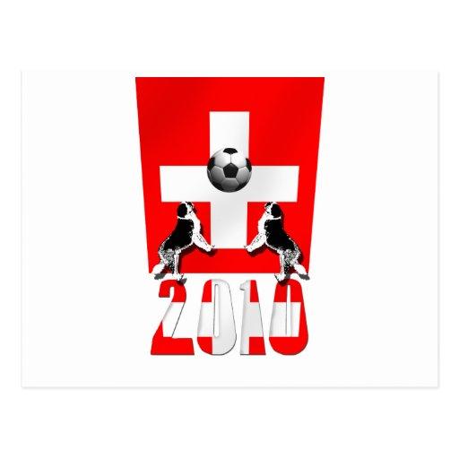 Switzerland 2010 soccer football Swiss flag gifts Post Card