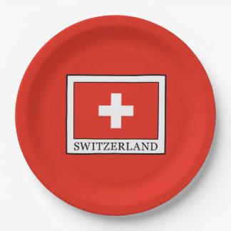Switzerland 9 Inch Paper Plate