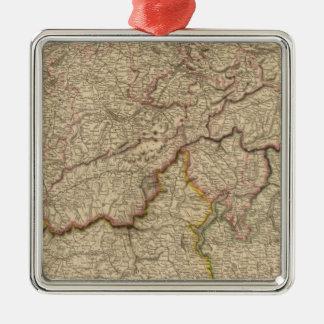 Switzerland, Alps Metal Ornament