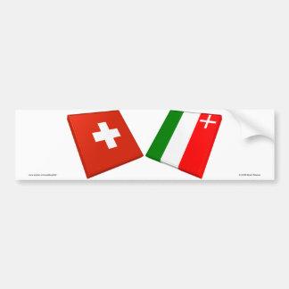 Switzerland and Neuchatel Flags Bumper Sticker