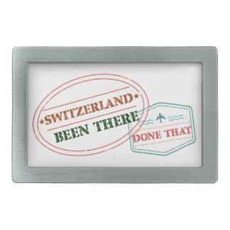 Switzerland Been There Done That Rectangular Belt Buckle