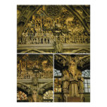 Switzerland, Bern Cathedral, carving on doorway Poster