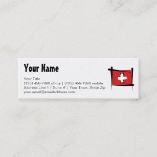 Switzerland flag business cards business card printing zazzle ca switzerland brush flag mini business card reheart Image collections