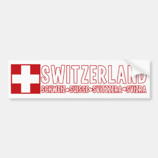 SWITZERLAND bumpersticker Bumper Sticker