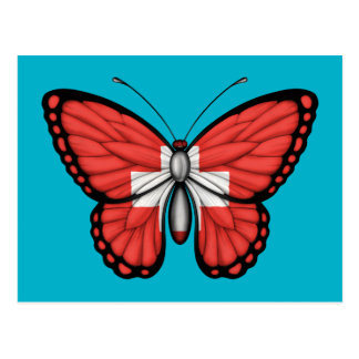 Switzerland Butterfly Flag Post Card