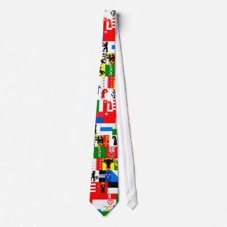 Switzerland Canton Flags Necktie