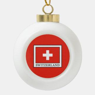 Switzerland Ceramic Ball Ornament