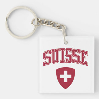 Switzerland + Coat of Arms Keychain