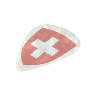 Switzerland Coat of arms Pearl Celluloid Guitar Pick