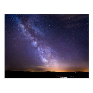 Switzerland Colorful Starry Night Sky Postcard