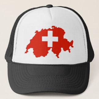 switzerland country flag map swiss symbol trucker hat