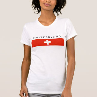 Switzerland country flag swiss nation symbol T-Shirt