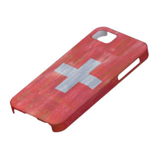 Switzerland distressed Swiss flag iPhone 5 Covers