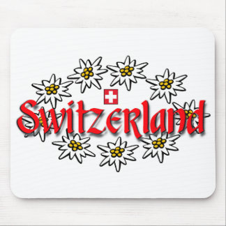 Switzerland Edelweiss Mousepad
