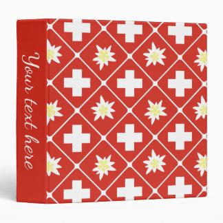 Switzerland Edelweiss pattern Binder