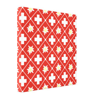 Switzerland Edelweiss pattern Canvas Print