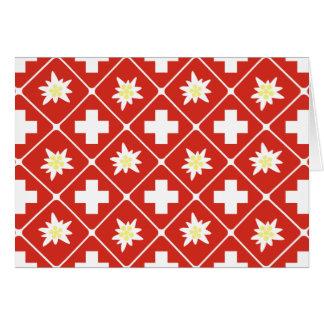 Switzerland Edelweiss pattern Card
