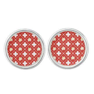 Switzerland Edelweiss pattern Cufflinks