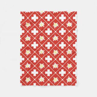 Switzerland Edelweiss pattern Fleece Blanket