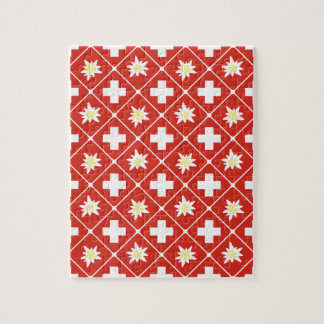 Switzerland Edelweiss pattern Jigsaw Puzzle