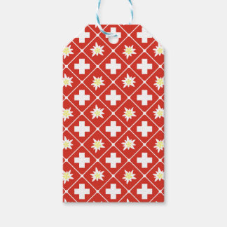 Switzerland Edelweiss pattern Pack Of Gift Tags