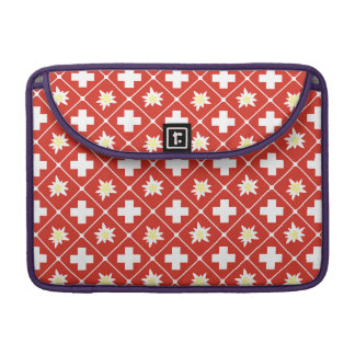 Switzerland Edelweiss pattern Sleeve For MacBooks
