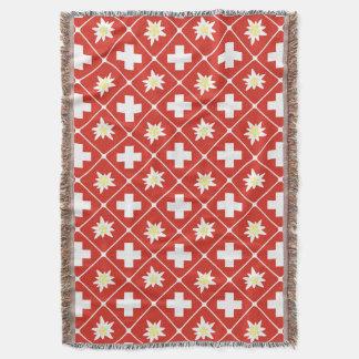 Switzerland Edelweiss pattern Throw Blanket