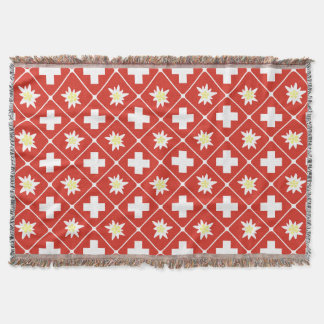 Switzerland Edelweiss pattern Throw Blanket