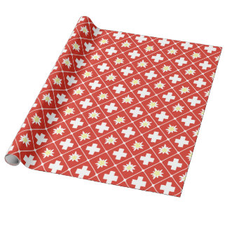 Switzerland Edelweiss pattern Wrapping Paper
