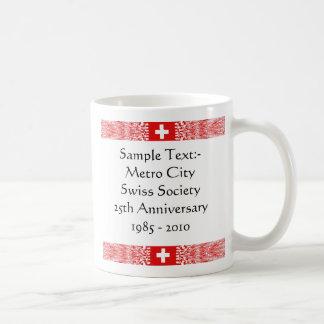 Switzerland eText ~ Flagcolor Map Mug