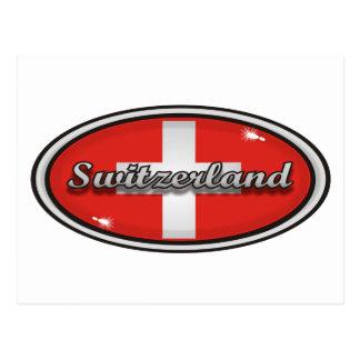 Switzerland flag 1 post card