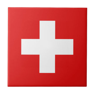 Switzerland Flag Ceramic Tile