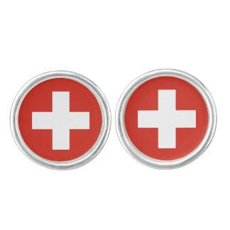 Switzerland Flag Cuff Links