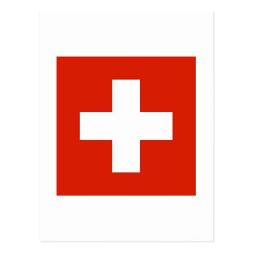 Switzerland FLAG International Post Card