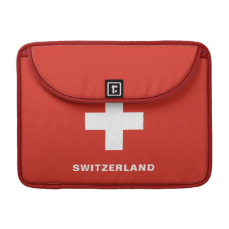Switzerland Flag MacBook Sleeve Pro