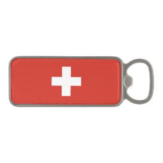 Switzerland Flag Magnetic Bottle Opener